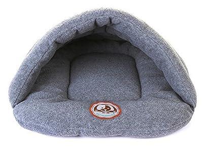 Cama para mascotas tipo cueva, acolchada, suave y cálida, para perros y gatos, tamaño XS, S, M y L
