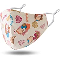LeahWard Kids Cotton Fabric Washable Two Layer Animal Print Anti Dust Mask