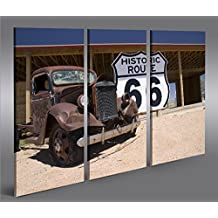 Imagen imágenes en lienzo Ruta 66Arizona Vintage Car 3P XXL Póster Lienzo Cuadro de decoración salón Marca Islandburner