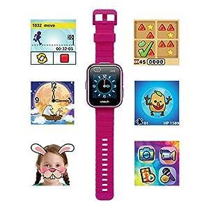 VTech Kidizoom Smart Watch DX2 - Reloj inteligente para niños con doble cámara, color Frambuesa (80-193847)