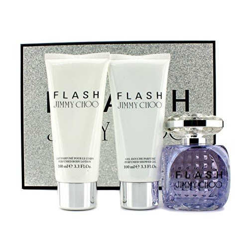 Jimmy Choo – Flash Coffret: Eau De Parfum Spray 100ml/3.3oz + Body Lotion 100ml/3.3oz + Shower Gel 100ml/3.3oz – 3pcs