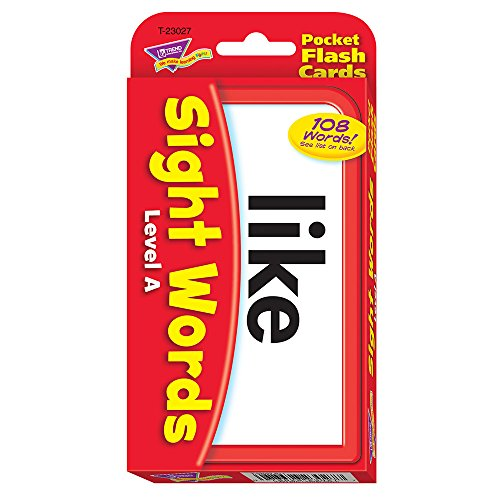 Sight Words Level A Pocket Flash Cards by Trend Enterprises Inc - Spiel Round Word A