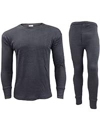 GAFFER Men Thermal Long Johns Bottoms & Long Sleeve Vest Set