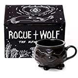 Witch Cauldron Mug en caja de regalo de Rogue + Wolf Regalos de Harry Potter Taza de novela de porcelana 3D Taza de té de Halloween Wiccan Wiccan Supplies 14 oz 400ml