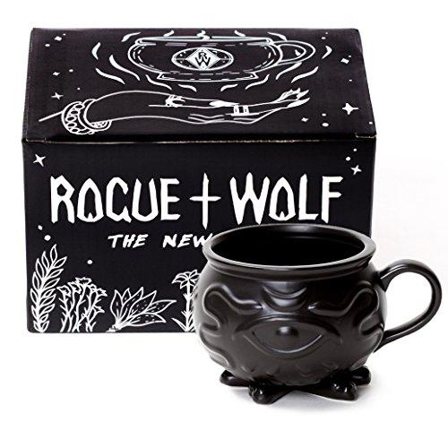 Cauldron Kaffee Mug in Geschenkbox von Rogue + Wolf Harry Potter Geschenke Porzellan 3D Neuheit Becher Halloween Dekoration Tee Tasse Hexerei Wiccan Lieferungen 14 oz 400ml