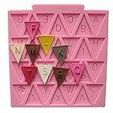 meizu88 Silicone Letter Flag Lace Cake Mold Decorating Baking Chocolate Fondant Mould (Random Color style12)