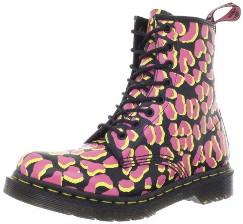 (Dr. Martens 1460Patent Damen Lace Ups Boots, Schwarz - Black/Pink/Yellow - Größe: 39 EU (M))