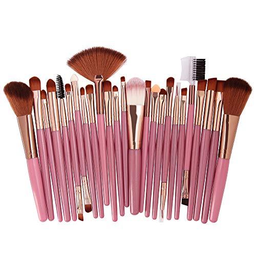 DaySing Brosse Kit De Pinceau Maquillage Professionnel25Pcs Maquillage CosméTique Pinceau Fard à Joues Fard à PaupièRes Kit Set Pinceau à LèVre avec Sac Nois
