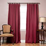 Best Home Fashion Burgundy Pinch Pleated Thermal Insulated Blackout Curtain 84L-1Pair by Best - Best Reviews Guide