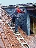 Krause 804204 Dachleiter Alu-Holz, 8 Sprossen