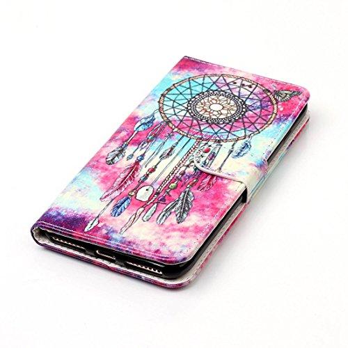 Yaking® Apple iPhone 7 Plus PU Portefeuille Étui Coque Stand Flip Housse Couvrir impression Case Cover P-1