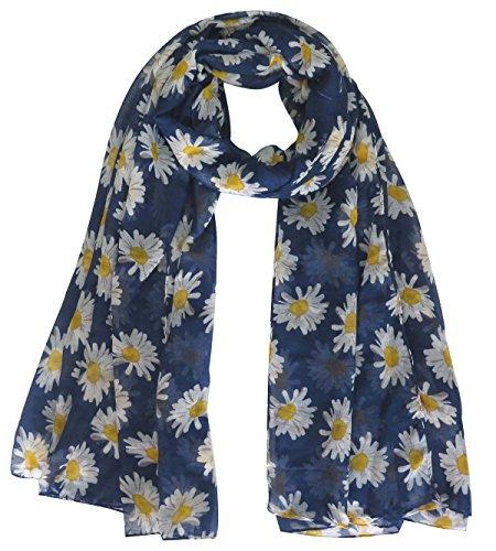 lina-lily-daisy-print-womens-scarf-shawl-wrap-oversize-navy-blue