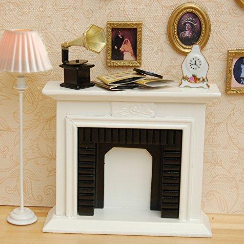 Puppenhausmöbel Europäische Weiß Kamin Kinder Spielzeug Geschenk LianLe (Mini Kamin)