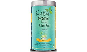 First Bud Organics Slimbud Green Tea with Garcinia Cambogia, 100G (SlimBud Green Tea -100g)