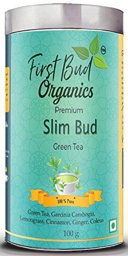 Firstbud Organics Premium Slimbud Green Tea With Garcinia Cambogia 100 G