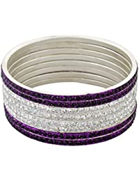 Pass Pass Traditional Party Wear Bangles Set Of 8 For Women And Girls Set Of 8