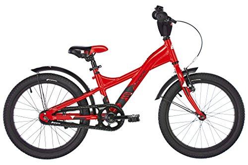 S'COOL Kinder Xxlite Kinderfahrrad, mehrfarbig (Red/Black Matt), 18 Zoll