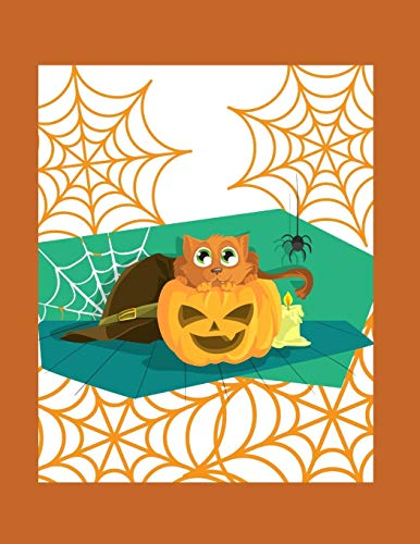 2020: Planner - 1 Day per Page - January to December 2020-  Agenda, Calendar, Schedule Organizer and Journal Notebook - Halloween Pumpkin and cat, Day of the deaths (Dia Halloween De Un)