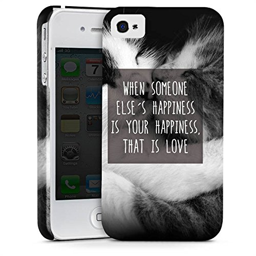 Apple iPhone X Silikon Hülle Case Schutzhülle Happiness Katzen Love Premium Case glänzend