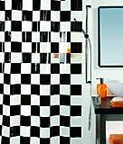 Spirella 10.00377 Duschvorhang Matto Black, vinyl B x H: 180 cm x 200 cm