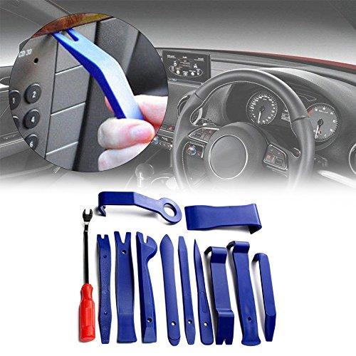 Swiftswan 12 Stücke Tragbare Auto Autoradio Panel Tür Clip Audio Removal Installer Werkzeuge (Farbe: Schwarz)