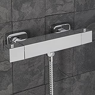 Architeckt Modern Bathroom Bar Shower Mixer Valve Brass Square Chrome Exposed 3/4 Inlet