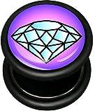 Best body jewelry Fake Diamonds - Pro-Piercing Fake Plug - Blue Diamond - 1.2mm Review