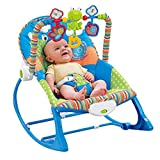 Defect Baby-Schaukelstuhl, beruhigende Multifunktions leichte Baby Schaukeln Blauer Stuhl Swing Sessel Chaiselongue Faltbare Babypuppe Arti Tatsache