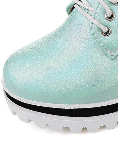 WSS 2016 Chaussures Femme-Extérieure / Bureau & Travail / Habillé-Bleu / Blanc / Amande-Talon Compensé-Compensées / Talons / Creepers / Confort / white-us9.5-10 / eu41 / uk7.5-8 / cn42