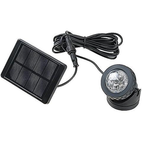 VicTsing Luz led Solar Powered impermeable 6 Reflector LED para el jardín al aire libre de la charca de la lámpara del