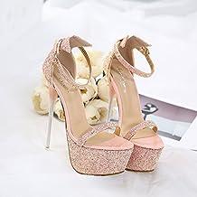 15 Rosa Amazon Sandali Donna Tacco it JcKuTl13F