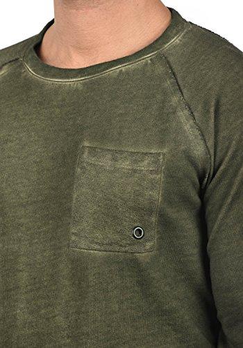 REDEFINED REBEL Mirin Herren Sweatshirt Pullover Sweater mit Rundhals-Ausschnitt aus 100% Baumwolle Dark Olive