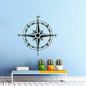 Wandtattoo kompass wandaufkleber motiv nautische windrose - Wandtattoo kompass ...