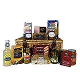 Il Cavendish Luxury Wicker Gift Cestino di cibo con 15 oggetti - Idee regalo per compleanni, anniversari, matrimoni e corporate