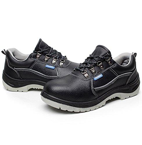 NiSeng Homme Respirant Chaussure de Sécurité Chaussures À Embout en Acier Chaussure de Chantier Bzotte de Sécurité Noir