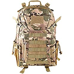 610daf9d2 HUKOER Mochila táctica Macuto de montañismo militar -35 Litro al aire libre  Material a prueba