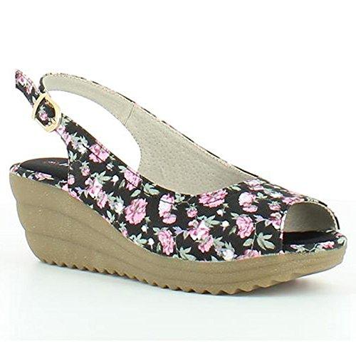 Noir De Sandales De Clematis Heavenly Feet Floral Noir