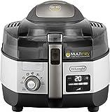 De'Longhi MultiFry Extra Chef Plus FH 1396 Heißluftfritteuse/Multicooker (1,7 kg Fassungsvermögen, 1.400W / 1.000W, 8 Portionen, SHS-Double-Pro, Grillfunktion, Rezepte-App) grau/weiß