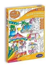 Sentosphere- Póster para Pintar con Colores Parque de Atracciones, Unisex (2090)