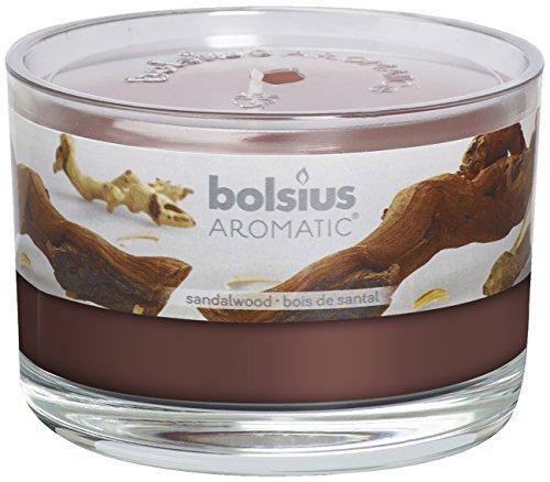 Bolsius 8717847086105 Duftglas, wachs, sandalwood, 6,3 x 9 cm