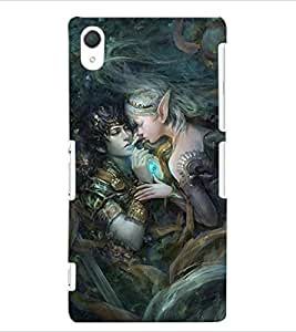 ColourCraft Loving Couple Design Back Case Cover for SONY XPERIA Z2