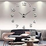 DP Design® 3d Reloj de pared números pegatinas de espejo DIY Clock 3d sticker Casa Salón Cocina