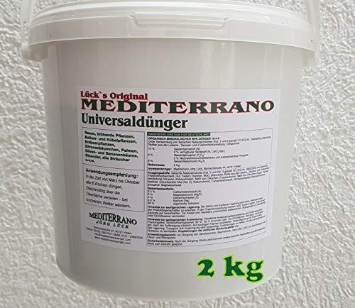 Lück´s original Mediterrano Universal Dünger 2 Kg für mediterrane Pflanzen, Bananen, Oliven, Zitronen, Hanfpalmen, Palmen