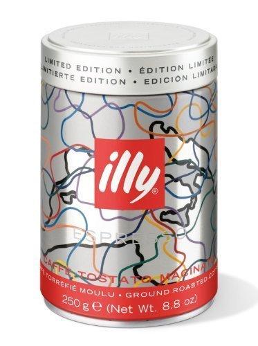 Preisvergleich Produktbild 3 x Illy Espresso gemahlen,  normale Röstung (medium),  Dose mit silber / roter Banderole,  250 g