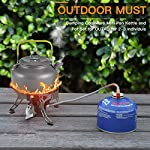 Buycitky Camping Cookware Kit,Camping Accessories Cooking,Lightweight & Nonstick Camping Kettle,Camping Pots,Camping Pans with Mesh Set Bag for Outdoor Activities,Picnic,Hiking,10-Piece Set 14