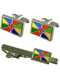 Merida Venezuela Bandera gemelos Clip de corbata Box Set de regalo
