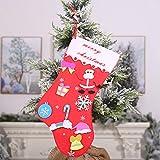 XdiseD9Xsmao Joli Noël Bas Forme Conception Bonbon Sac Santa Flocon De Neige Arbre Imprimer Chaussette Beau Cadeau Sac Parti Décor Ornement BNone