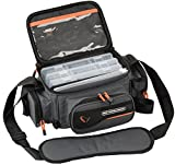Savage Gear System Box Bag S (15x36x23cm) - Angeltasche inkl. 3 Angelboxen & Ziplock Bags,...
