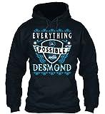 Bequemer Hoodie Damen / Herren / Unisex M Everything possible with Desmond Dunkelblau