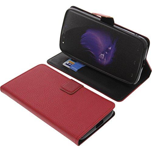 foto-kontor Tasche für HomTom HT50 Book Style rot Schutz Hülle Buch